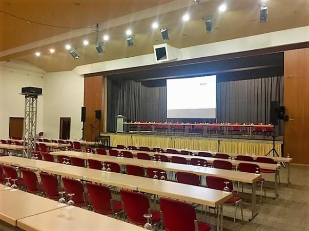 Salierhalle Bad Dürkheim, Projektion, Ton- und Beleuchtungstechnik