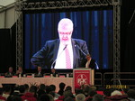 Dieter Rombach auf LED-Wand JHV FCK